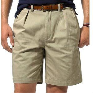Polo Ralph Lauren Khaki Chino Pleated Shorts 48B